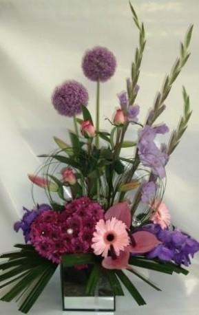 Purple Orchid Arrangement