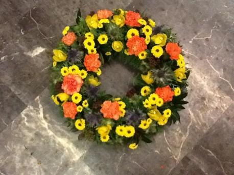 Orange and Yellow Wreath