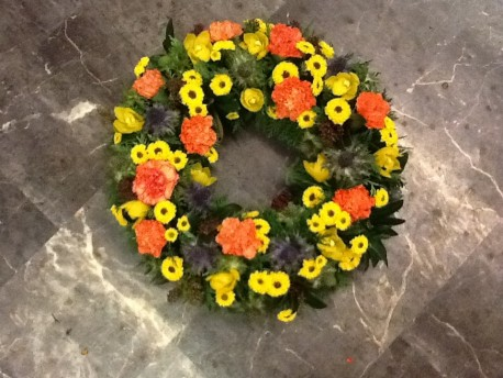 Orange and Yellow Wreath