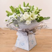 White and Green Aqua Packed Bouquet