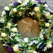 Contemporary Calla Lily Wreath