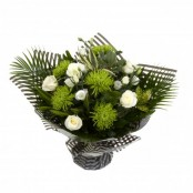 Handtied Bouquet Green and White